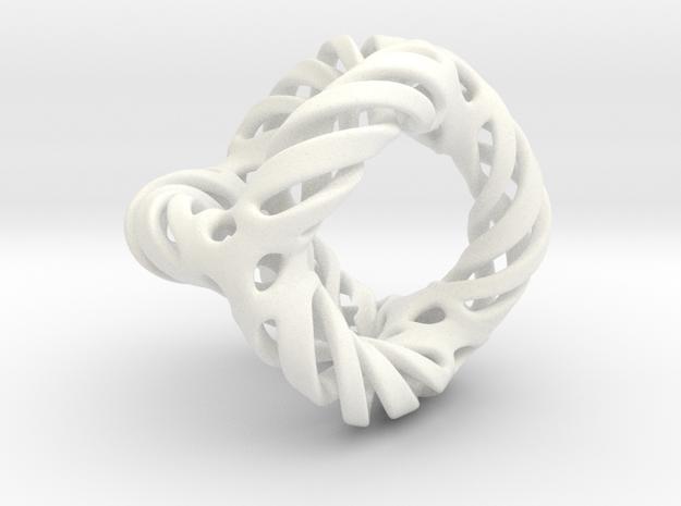Spiral cutospheroid in White Processed Versatile Plastic