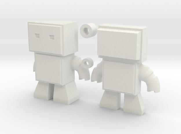 Robot Snap Mini Kit Model in White Natural Versatile Plastic