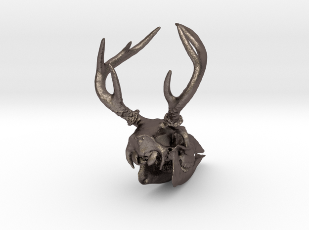 8-point white-tailed deer buck - 75 mm 3d printed