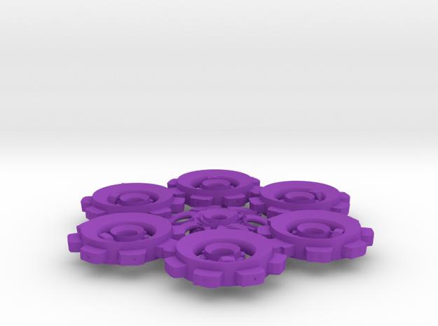 Snowflake of Cogs 3d printed
