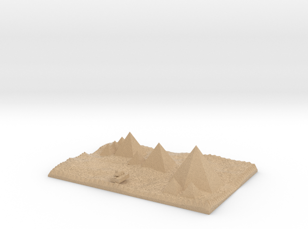 Pyramids Of Giza More Accurate And Sphinx Model 3d printed