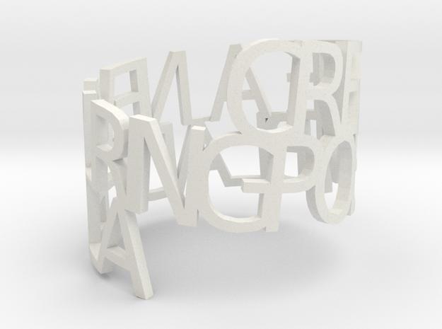 Ring Poem in White Natural Versatile Plastic