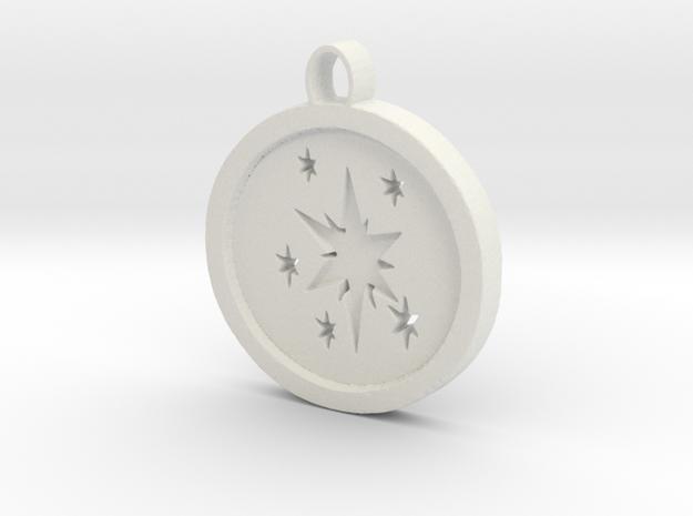 Twilight sparkle cutie mark circle pendant in White Strong & Flexible