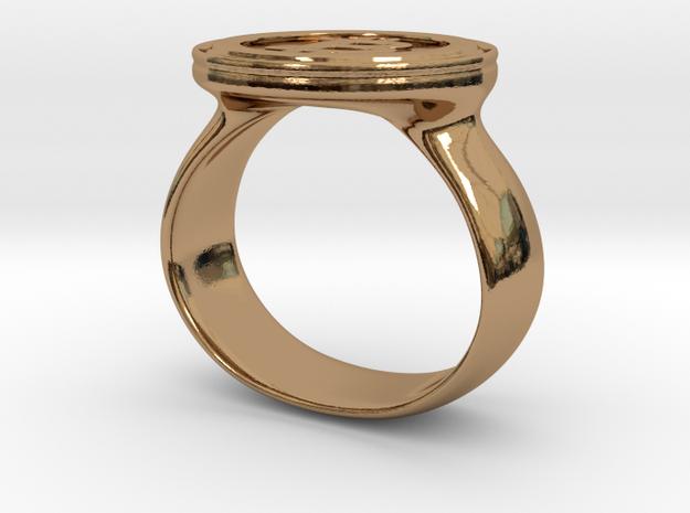 Bitcoin Ring 3d printed