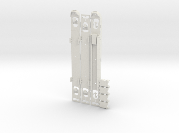 Plan U Bodems N scale (1:160) in White Natural Versatile Plastic