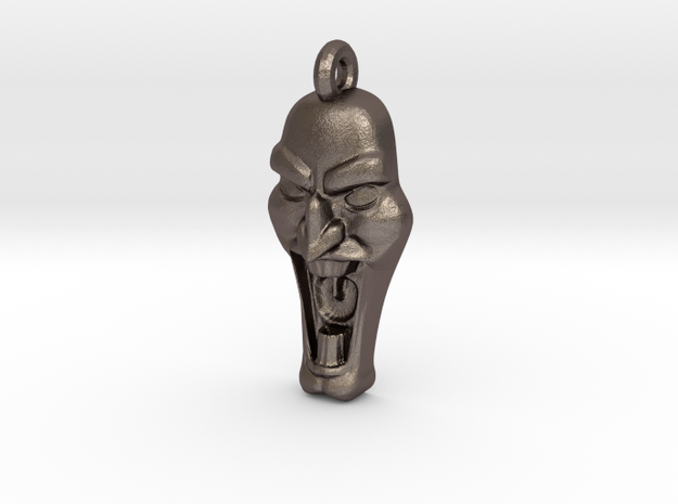 Mad Face - Pendant -v1b 3d printed