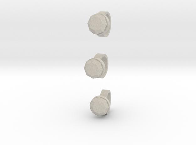 3 Size 11 Lara Rings 3d printed