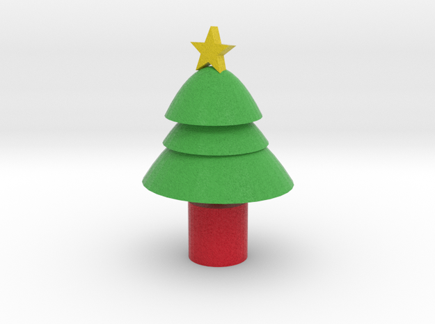 cartoon xmas tree 3d printed