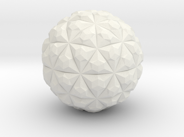 Tetra Sphere in White Natural Versatile Plastic