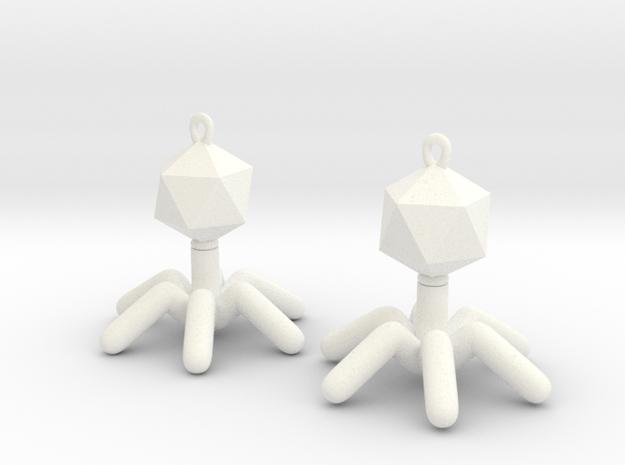 T4 Phage Earings 3d printed