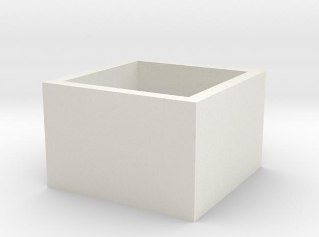 squareRing_19mmx15mm in White Natural Versatile Plastic