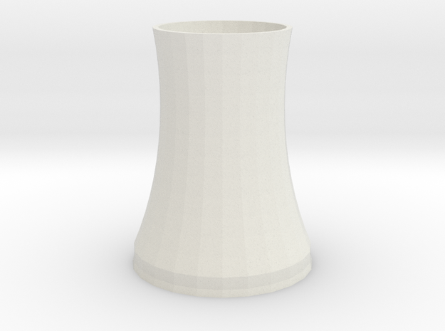 cooling tower of nuclear plant in White Natural Versatile Plastic