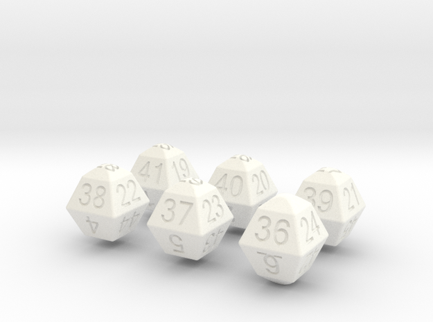 Lotto Dice(6x53) 3d printed
