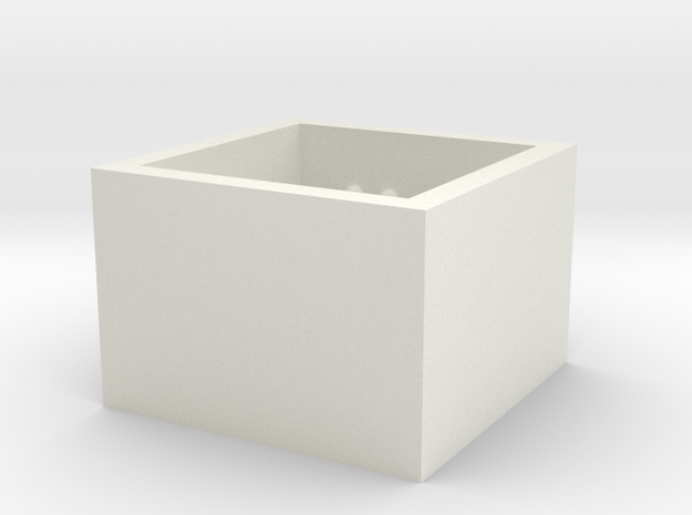 SquareRing_CarpeDiem_Int_17mmx15mm in White Natural Versatile Plastic