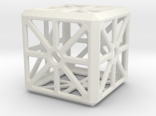 Hollow Box in White Natural Versatile Plastic
