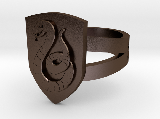 Slytherin Crest Ring 3d printed