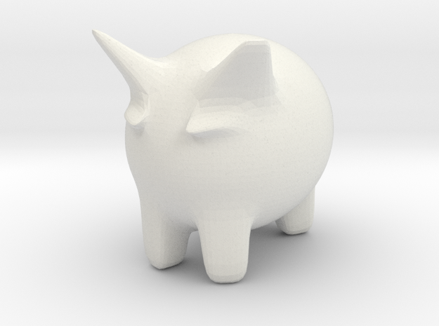Moo Yeow in White Natural Versatile Plastic