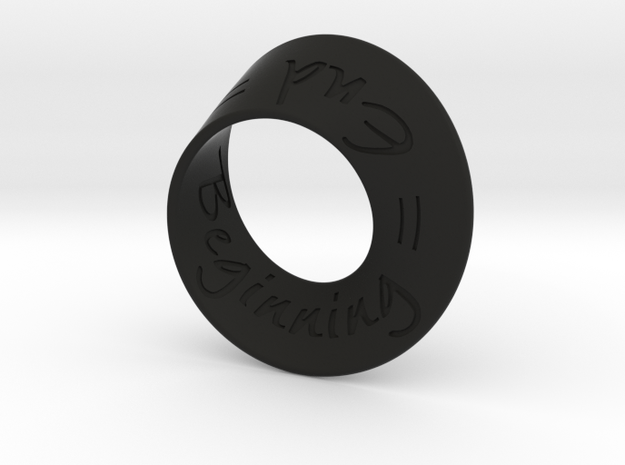 End = Beginning = mobius strip 3d printed