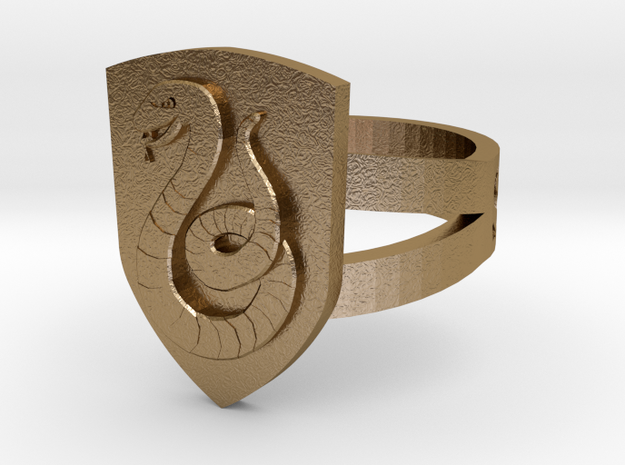Slytherin Ring Size 8 3d printed