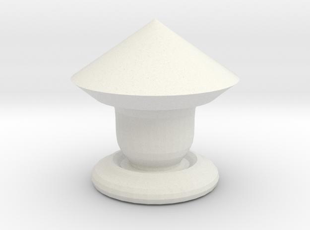 Chess Piece -Knight  in White Natural Versatile Plastic