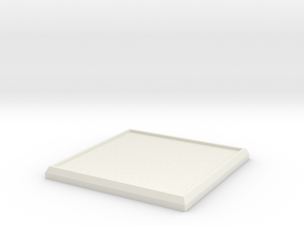 Square Model Base 40mm in White Natural Versatile Plastic