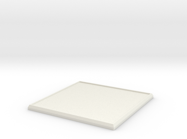 Square Model Base 60mm in White Natural Versatile Plastic