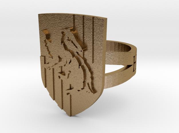 Hufflepuff Ring Size 4 3d printed