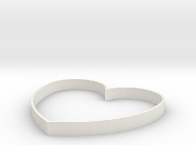 Heart Design in White Strong & Flexible