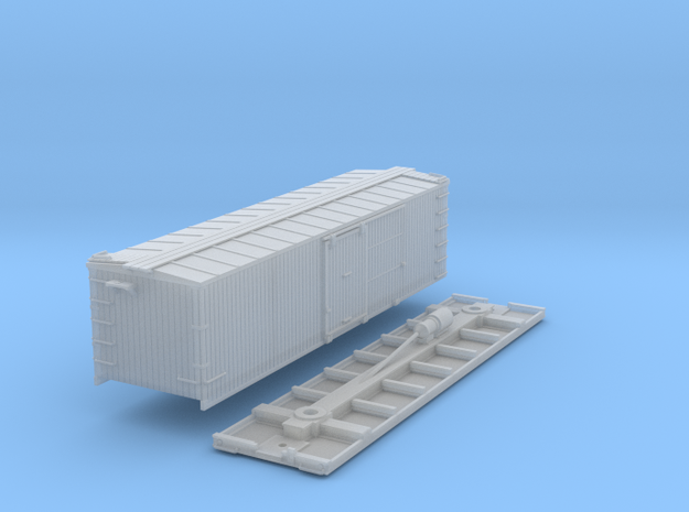 N-Scale D&SL 52100 Series Boxcar Kit in Smooth Fine Detail Plastic