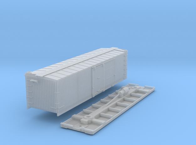 N-Scale D&SL 52100 Series Boxcar Kit 3d printed