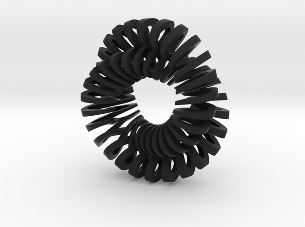 Spiralling figure 8 with 360 degree twist 3d printed