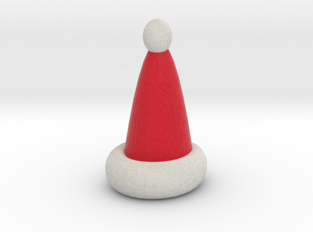 hollow santa hat 3d printed