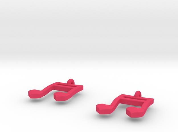 Musical Heart Earrings 3d printed