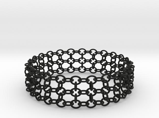 3in Samurai Bracelet in Black Strong & Flexible