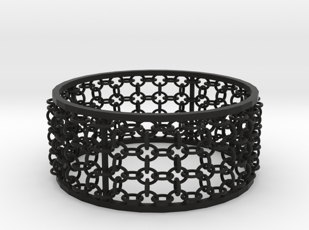 3in Emperor Bracelet in Black Natural Versatile Plastic