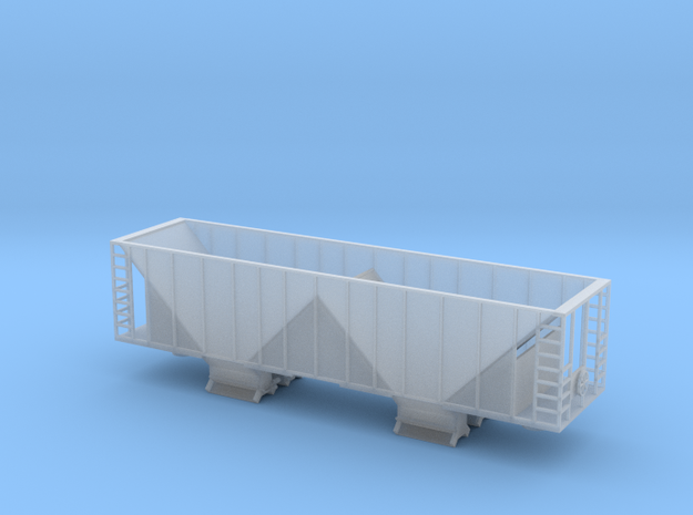 Ballast Hopper Car - N scale  in Frosted Ultra Detail