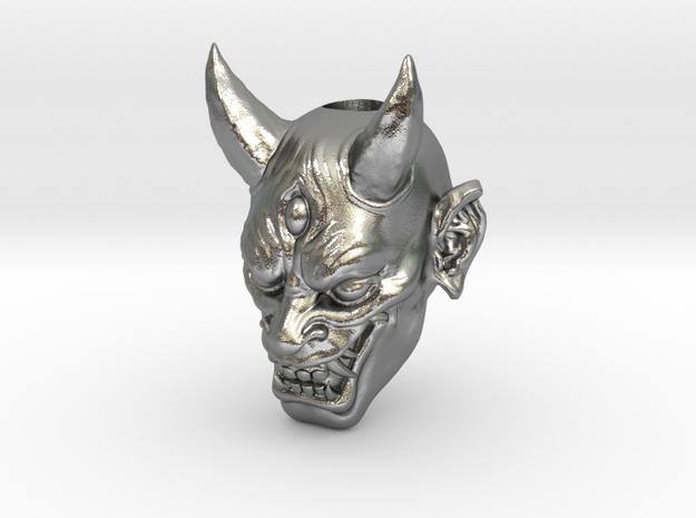 Japanese Hannya Demon Bead - Coming Soon in Natural Silver