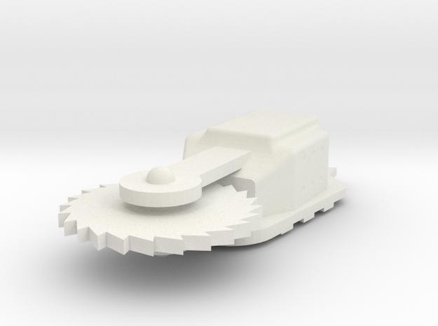 Saw1 in White Natural Versatile Plastic