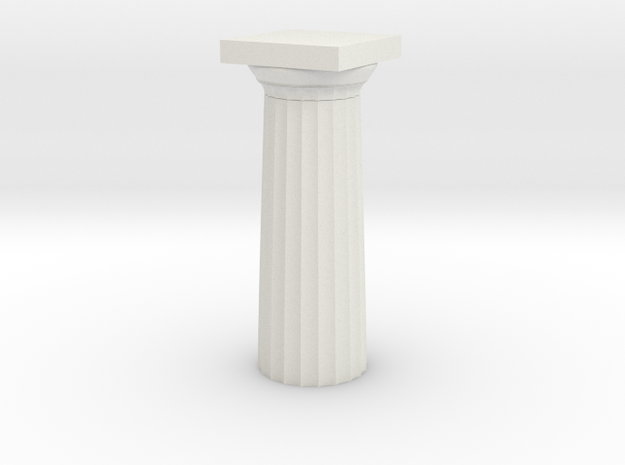 Parthenon Column Top (Hollow) 1:100 in White Natural Versatile Plastic