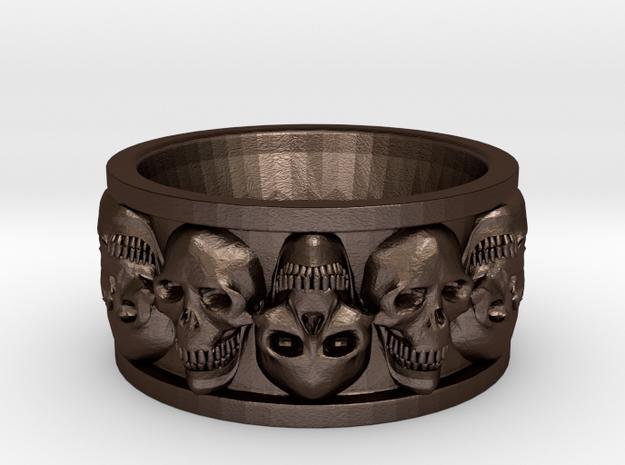 FacedSkull ring 3d printed