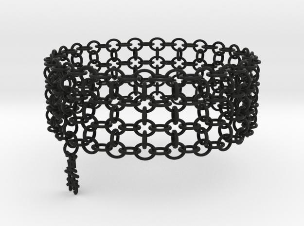 3in Shogun Kanji Bracelet in Black Natural Versatile Plastic