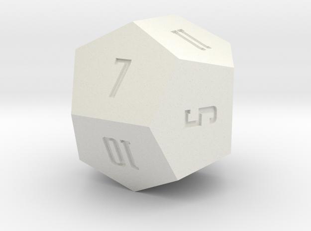 Irregular d12 3d printed