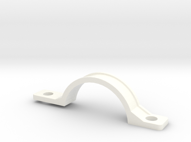 Front Mudguard Mounting - Inside in White Processed Versatile Plastic