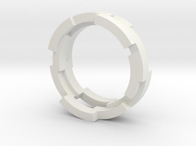 Plate Techtonics - Size 9 US in White Natural Versatile Plastic