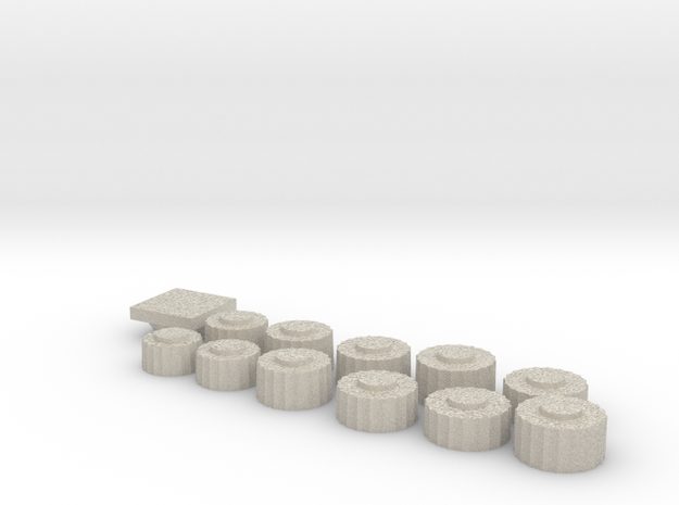 Parthenon Column Drum Puzzle 1:100 in Natural Sandstone