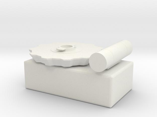 Keytool Glitch in White Natural Versatile Plastic