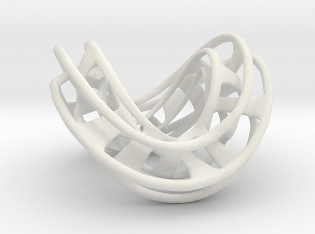 Mobius Hexagon Linkage in White Strong & Flexible