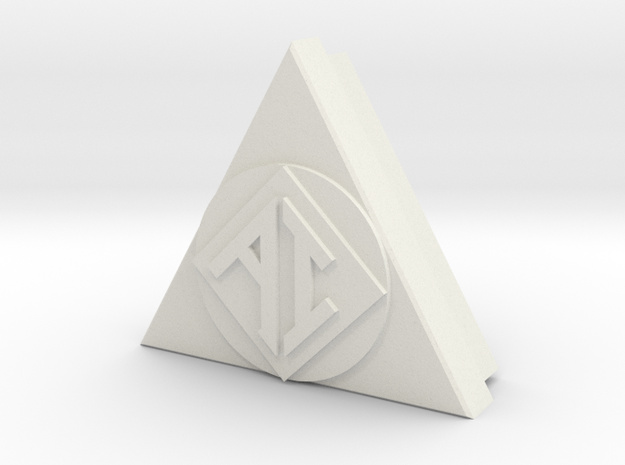 AI Icon smaller w/back in White Strong & Flexible