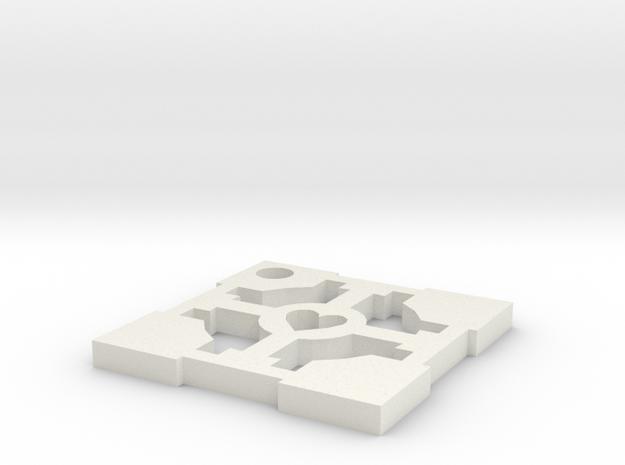 cube key in White Natural Versatile Plastic