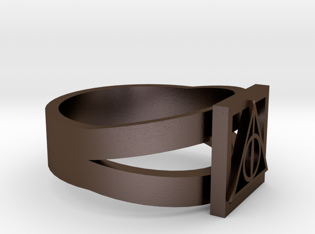 Deathly Hallows Ring Size 8 3d printed